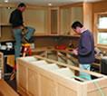 Tradesmen in a home