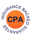 CPA insurance backed badge icon