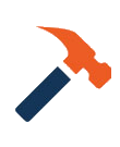 A hammer icon