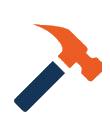 A hammer icon