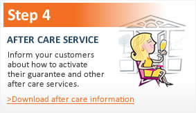 Step 4 - after care service