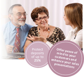 For consumer peace of mind we offer deposit protection