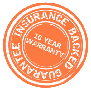 Insurance backed guarantee with 10 year warranty Logo