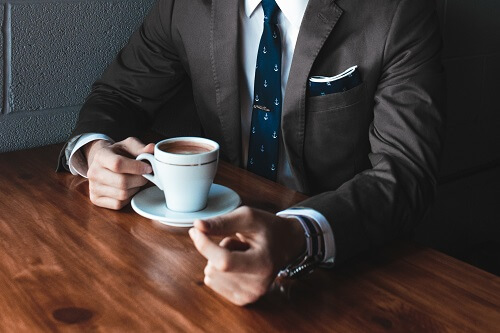 Businessman coffee